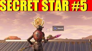 Fortnite week 5 Secret Battlestar Location #5 ( Road trip challenges week 5)