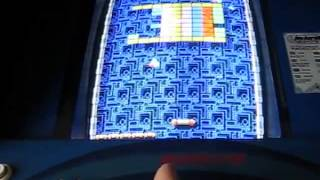 Zack Hample playing a perfect game of Arkanoid