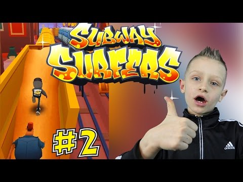 Subway Surfers #2 - Running From The Police, And Jumping Over Trains | KID GAMING On Android PHONE