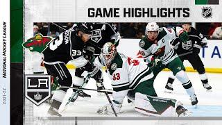 Wild @ Kings 10/16/21 | NHL Highlights