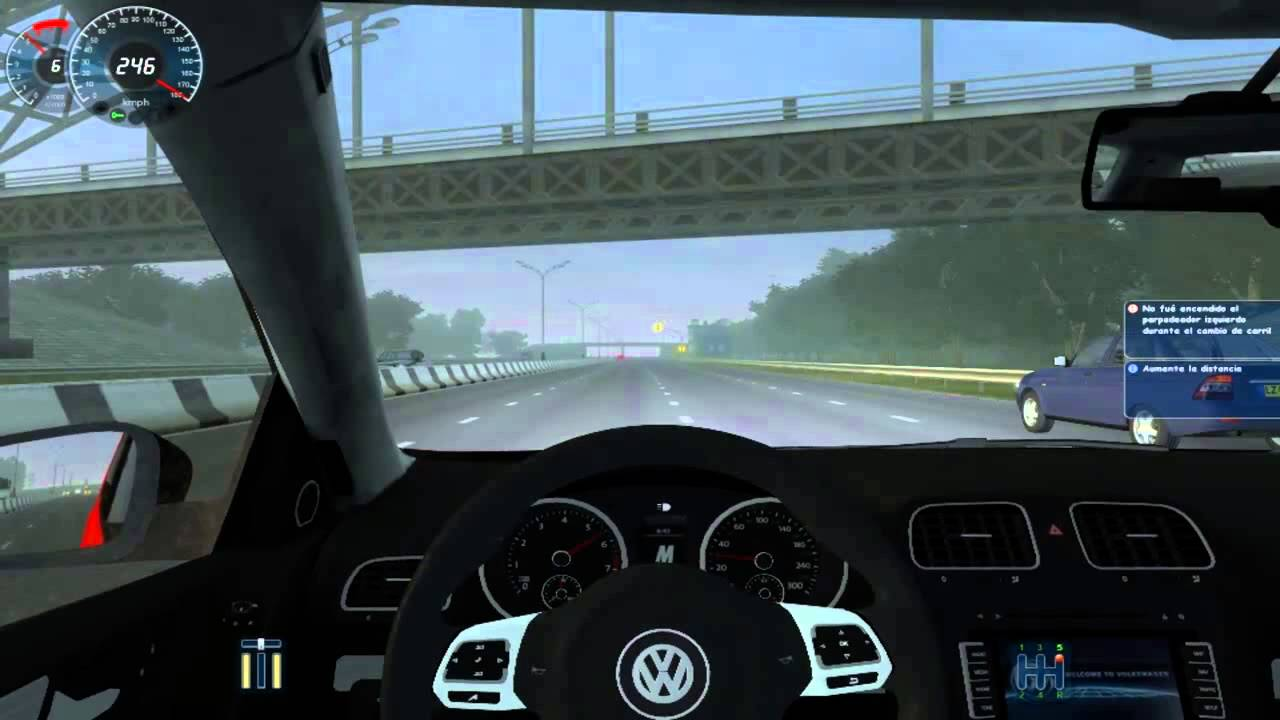 city car driving simulator 1 2 5 vw golf r10 crash n burn youtube. Black Bedroom Furniture Sets. Home Design Ideas