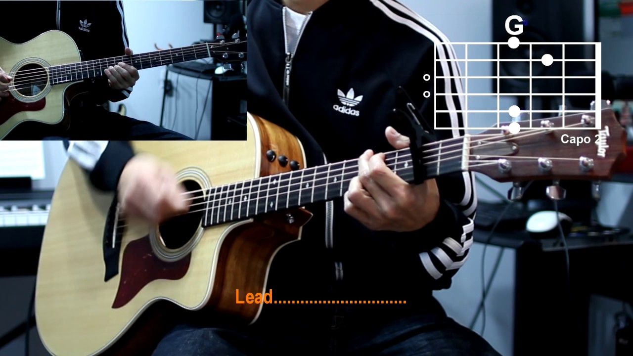 Hillsong Mighty To Save Cover With Guitar Chords Lesson Youtube
