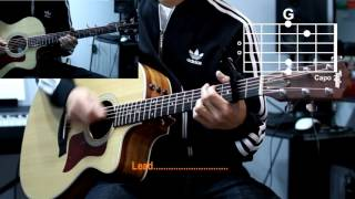 Hillsong - Mighty To Save Cover With Guitar Chords Lesson