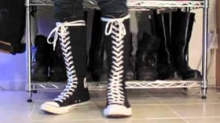 Converse XX HI Black \u0026 White - YouTube