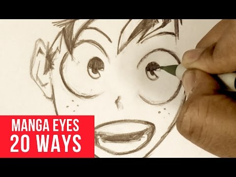 20 Ways Drawing Manga Eyes