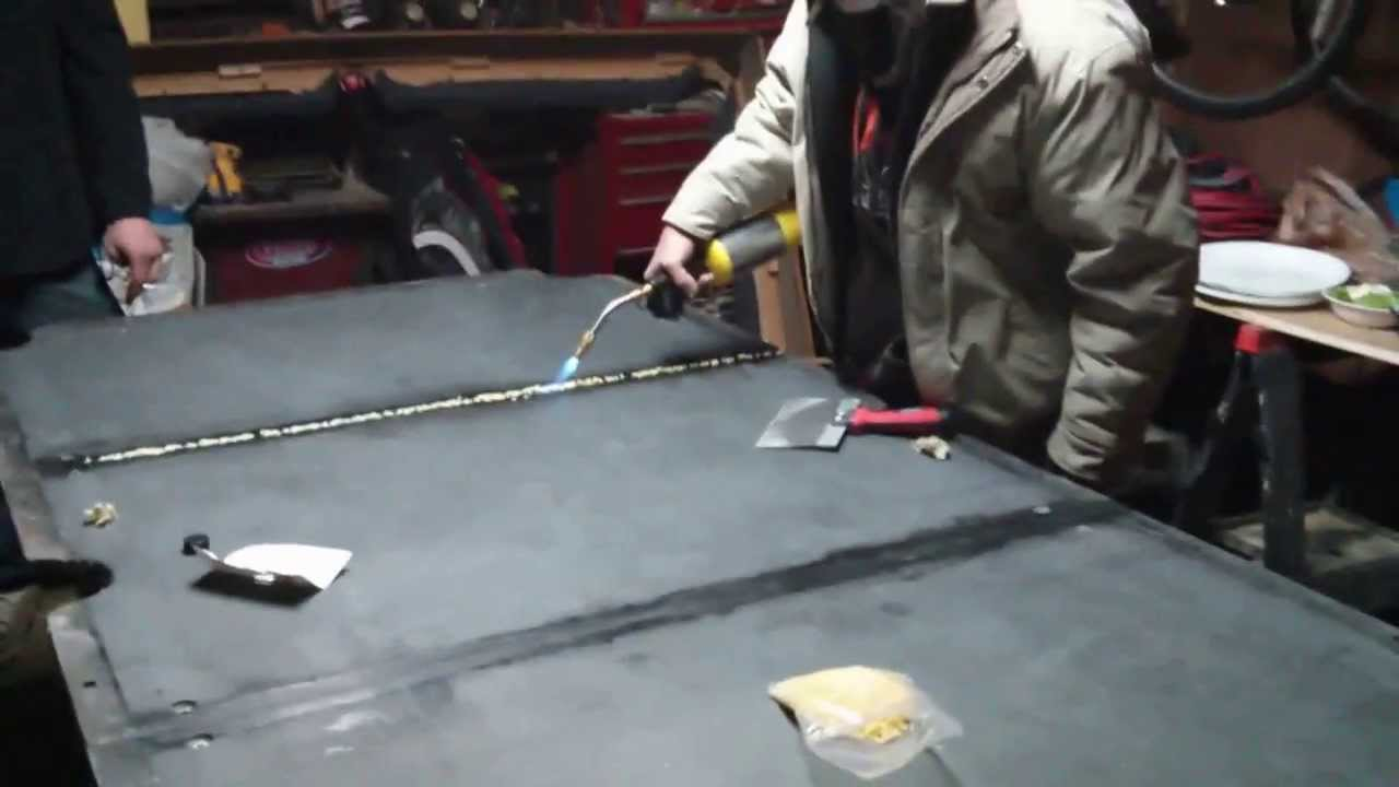 How To Apply Bees Wax To Your Slate Pool Table YouTube - Leveling pool table slate
