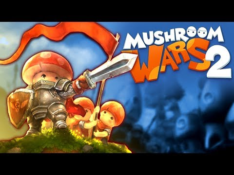 MASSIVE ARMIES Invade Rival KINGDOMS!  (Mushroom Wars 2 Gameplay Part 1)