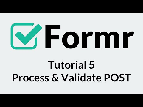 Formr 5: Process and Validate POST Data