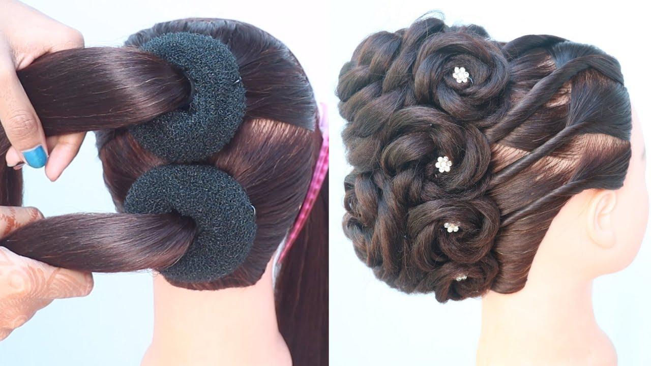 new beautiful messy bun hairstyle(french bun) | hair style girl | party hairstyles | easy hairstyles