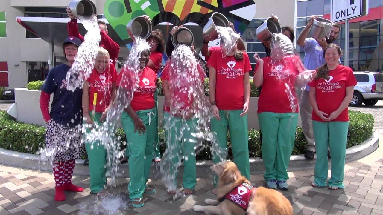 Child Life Team At Joe Dimaggio Children S Hospital Take On The Als Ice Bucket Challenge