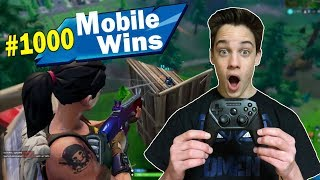 My 1000th Win of Fortnite Mobile Using a Controller!