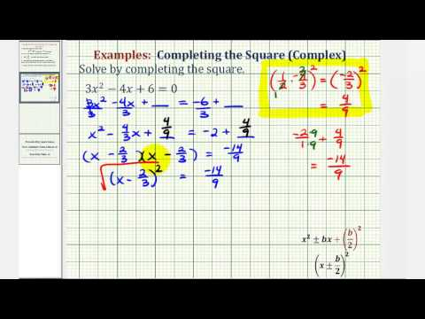 Solve Quadratic Equations by Completing the Square Examples