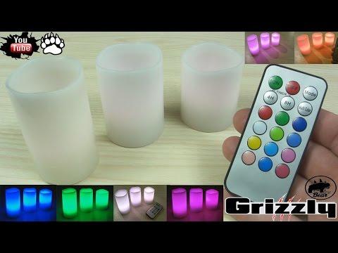 Светодиодные свечи LED RGB с пультом из Китая Aliexpress /electric RGB candle lights
