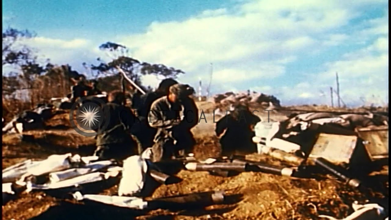 Vietnam Mortar Fire : Us th infantry division soldiers fire a mm mortar in