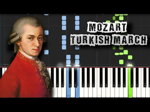 Mozart - Turkish March (Rondo Alla Turca) - Piano Tutorial Synthesia + PDF Sheets(Download MIDI)