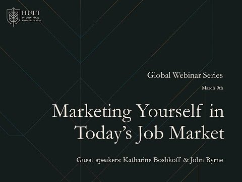 Marketing Yourself in Today's Job Market