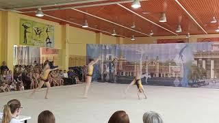 Спортивная акробатика. Новосибирск. КМС. Комбинированное. Ферманчук, Руднева, Удачина