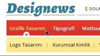 Photoshop Web Tasarım Dersleri 8 Açılır Dropdown Menü Yapımı Designus net