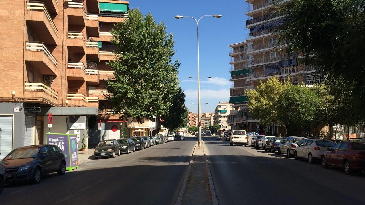 Granada Zaidin Avenida De Barcelona Mirando Hacia Avenida Fernando De Los Rios Youtube