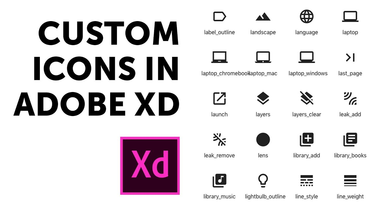 How to draw your own custom icons in Adobe XD