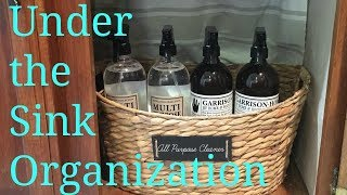 UNDER THE SINK ORGANIZATION| MONDAY CLEANING MUSE| MONDAY MOTIVATION