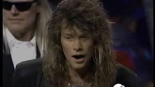 "Bon Jovi Receives ""Video Vanguard Award"" MTV Music Awards 1991"