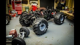Axial SCX10 Mud Truck Conversion Monster Truck Chassis Drop Install