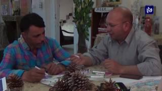 """""""صالح طالب"""" من الكرك يحصد جائزة عالمية للفن التشكيلي لذوي الاعاقة"""