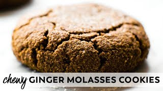 Soft-Baked Ginger Molasses Cookies {vegan, gluten-free, paleo}