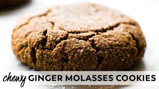 Soft-Baked Ginger Molasses Cookies {vegan, gluten-free, paleo}
