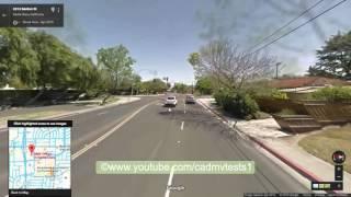 Santa Clara, California Behind the wheel test route #1