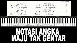 Notasi Angka MAJU TAK GENTAR Lagu Nasional