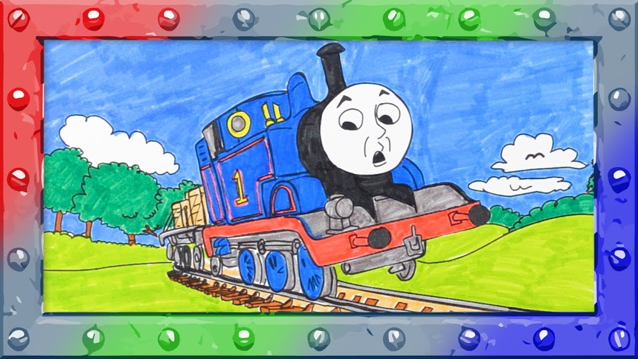 how to coloring thomas the tank engine coloring page with