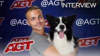 Interview: Lukas & Falco Recall Their First Time On The AGT Stage! - America's Got Talent 2019