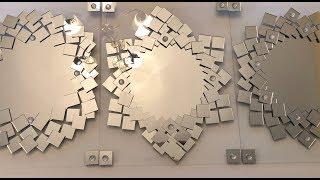 Wall Decor Ideas || Frameless Mirrored Wall Art