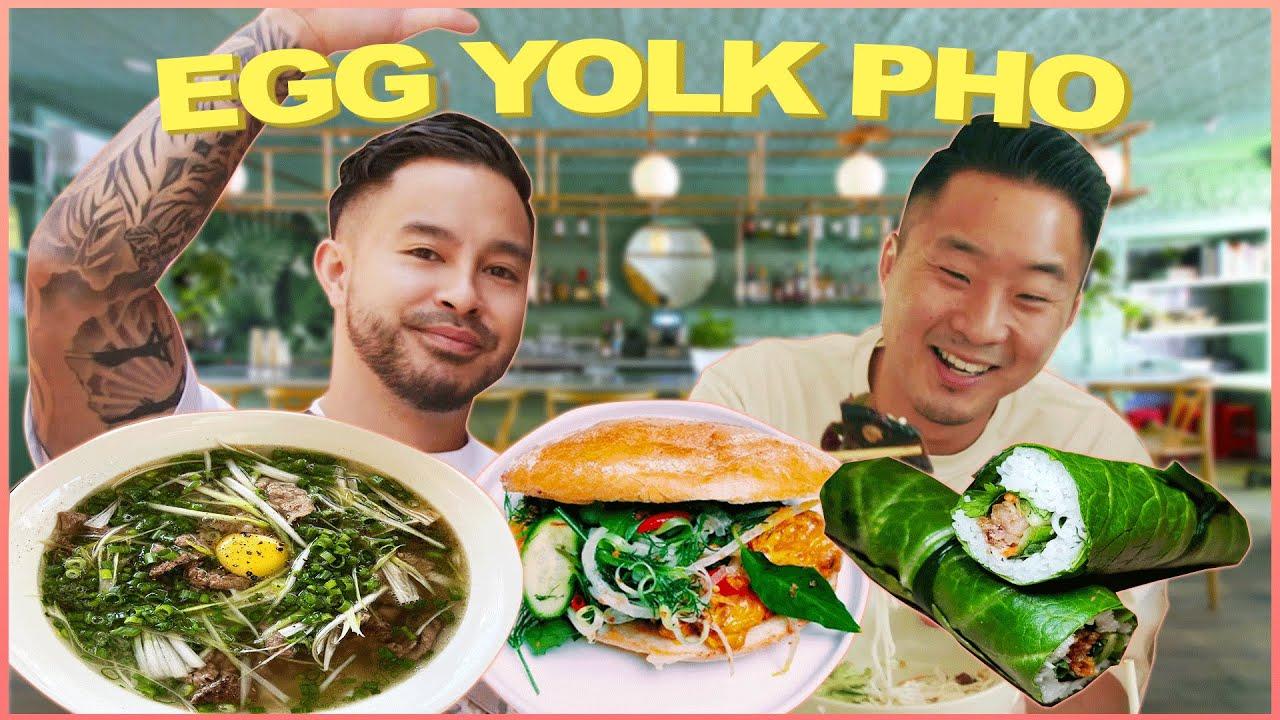 Incredible VIETNAMESE Food (Quail EGG YOLK in Hanoi PHO)