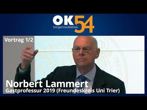 Norbert Lammert: Staat & Religion (1/2) - Gastprofessur 2019 Universität Trier