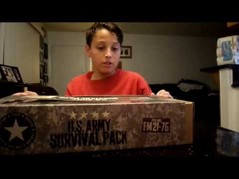 U.S ARMY Survival Kit Unboxing