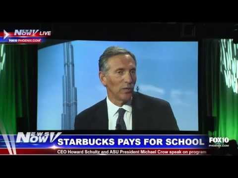 FNN: Starbucks CEO Discusses Plan to Pay for Employees College Tuition