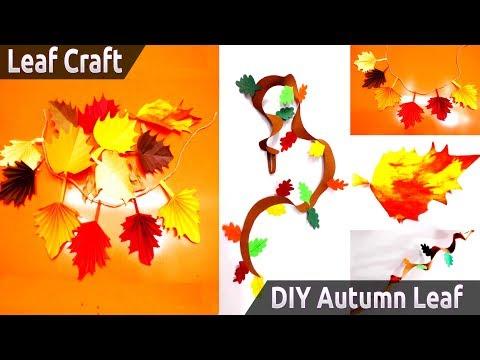 DIY Autumn Leaf - DIY Autumn/Fall Tree Branch - DIY Fall Leaf Decor Ideas