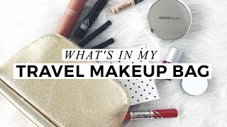 What's In My Travel Makeup Bag, travel makeup bag