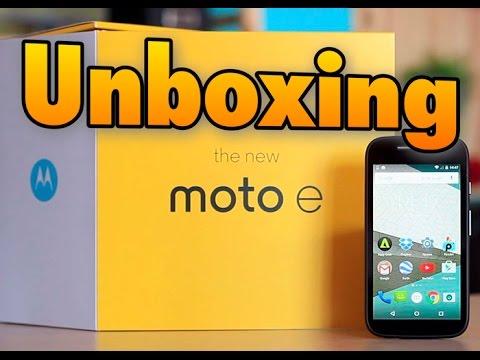 Unboxing Motorola Moto E 4G en español