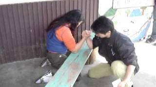 arm wrestling: kito vs karen young-- shidara residency
