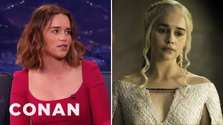 """Emilia Clarke Wants More Male Nudity On """"Game Of Thrones""""  - CONAN on TBS"""