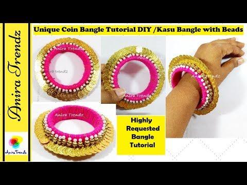 Trendy Unique Coin Bangle Tutorial | Kasu Bangle | Highly Requested Tutorial |Latest Bridal Designer