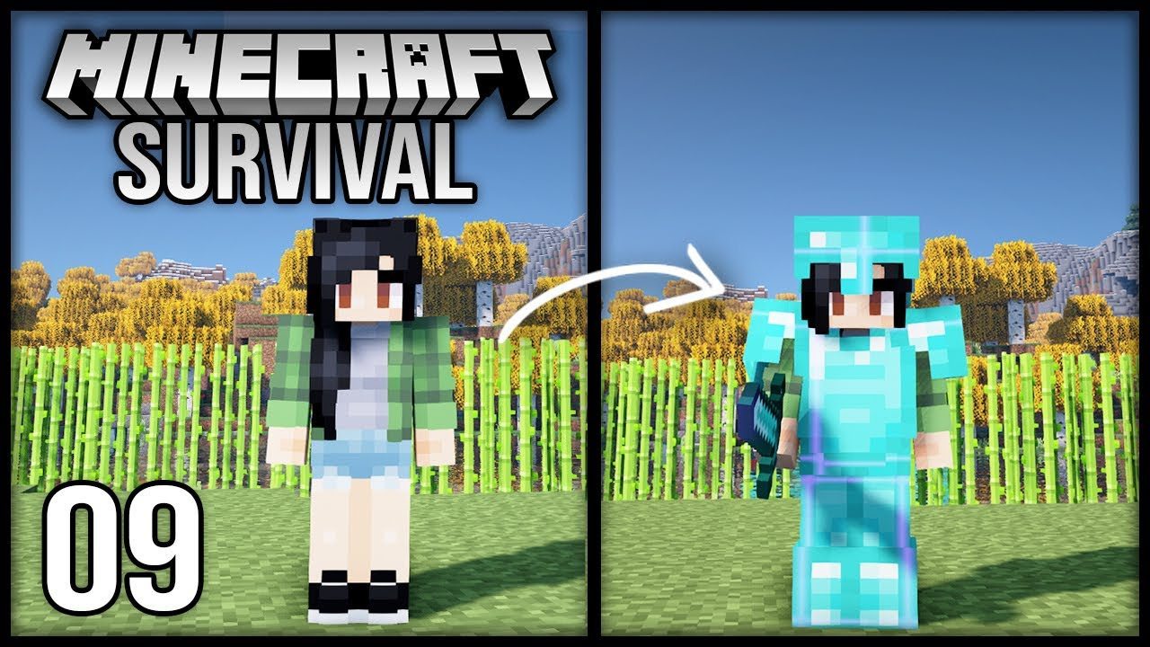 Minecraft 1.17 Survival Let's Play - Episode 9 - Suiting Up For the Dragon!
