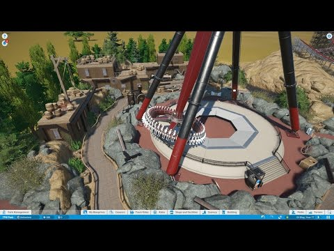 Let's Play Planet Coaster Episode 5 - Flat Ride Theming & Steam Train