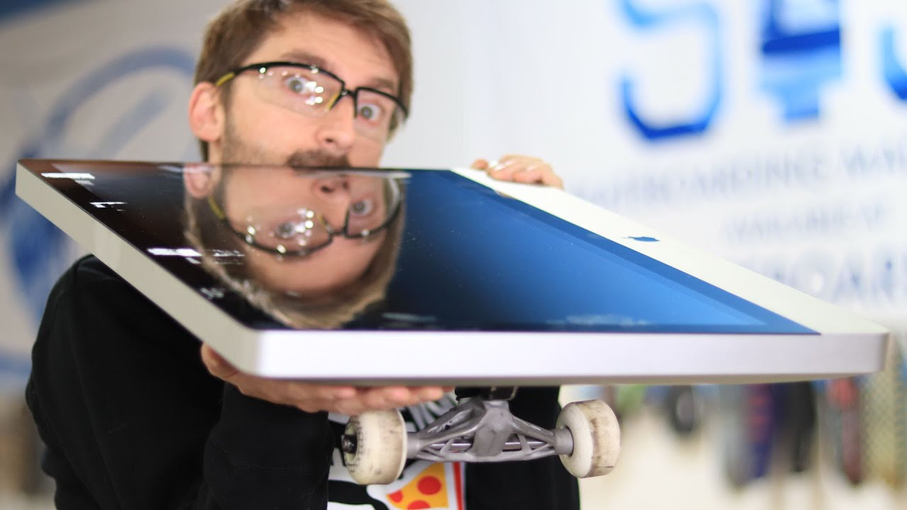 WE TURNED A 27in APPLE IMAC INTO A SKATEBOARD!?!