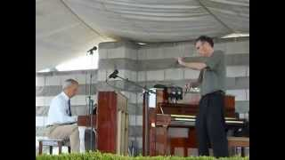 "Rich Egan (piano) and Scott Miller (bones): ""Barber Shop Rag,"" 2014 Scott Joplin Ragtime Festival"