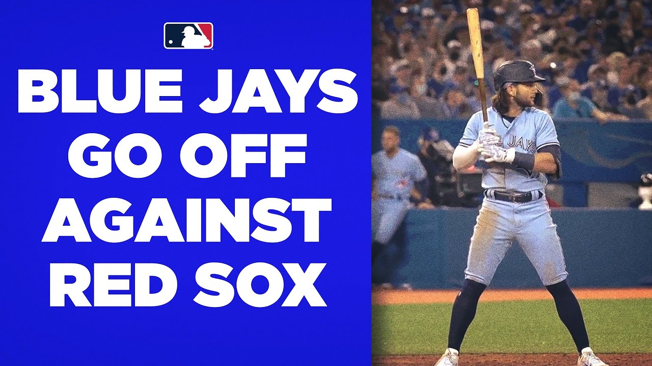 Blue Jays GO OFF for 9 runs in one inning against the Red Sox!